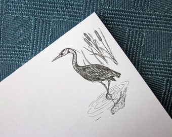 Recycled Paper Notepad - Great Blue Heron, Ecofriendly Gift Perfect for Teachers, Host/Hostess, His/Her, and Kids
