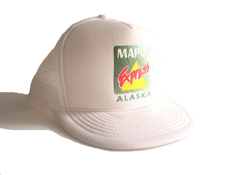 trucker hat vintage 70s baseball cap alaska