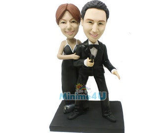 007 agent custom handmade wedding cake topper  (Free Shipping Worldwide)