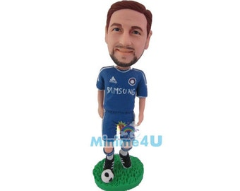 footballer figurine - personalized custom figurine  (Free Shipping Worldwide)