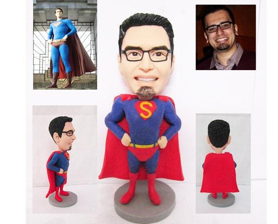 superman - personalized custom figurine 100% handmade (Free Shipping Worldwide)