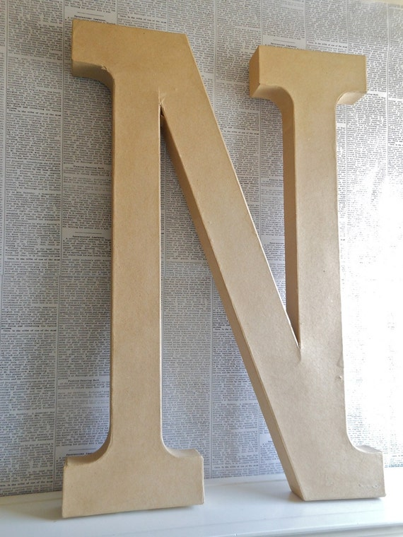24 inch paper mache 39 letter n