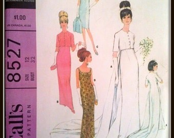 McCall's 8527  Misses' Brides', Bridesmaids' Or Evening Dress  Size  12