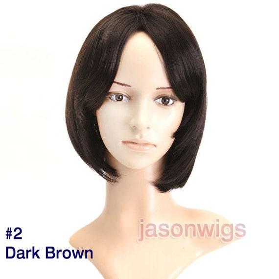Hair Wigs Bob Hair Style Wigs look Like Human Hair Capless Modern High ...