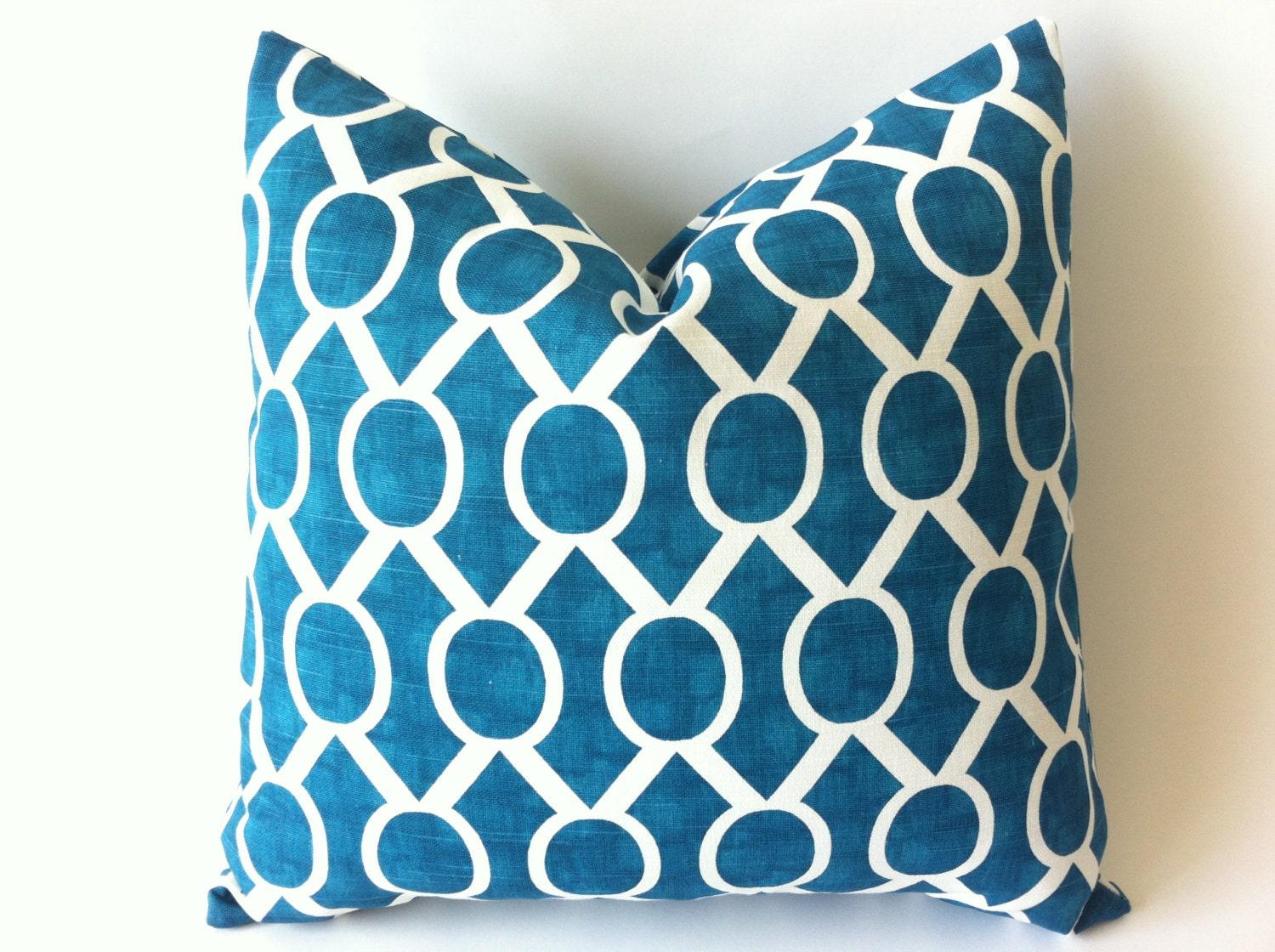 Throw Pillow Covers Teal : One Dark Teal Zipper Pillow Cover Teal Accent Pillow by Pillomatic