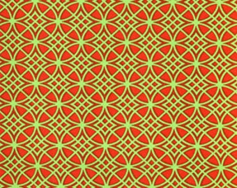 Christmas snow flower Dena Fishbein 45red 0,5 m pure cotton fabric