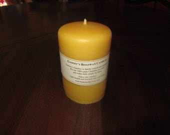 "100% Pure Beeswax Smooth Finish Candle pillar (3.1""x5"")"