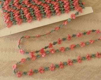 One Yard of Silk Ribbon Rosett Trim from France - New - Buds and Bows