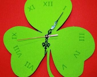 Shamrock Clock St Patricks Day