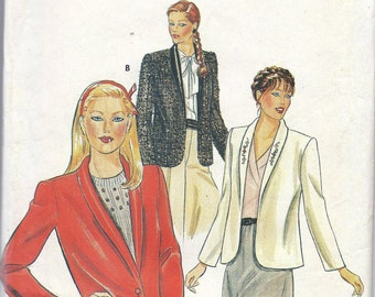 1980s  Misses Jacket Pattern, Butterick 4057, Size 12-14