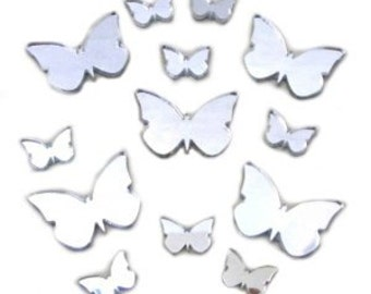 Butterfly Big Wings Mirror Pack of 13, 5 x 4cm and 8 x 2cm
