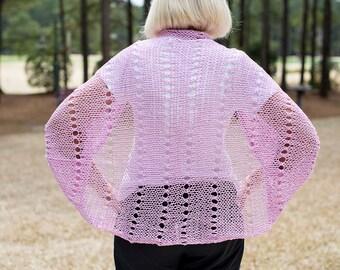 Hand knit lacey Shrug/Shawl
