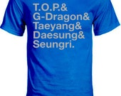Big Bang T.O.P. and G-Dragon and Taeyang and Daesung and Seungri Group Member Shirt