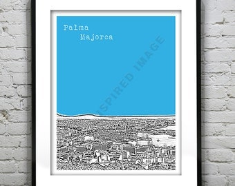 1 Day Only Sale 10% Off - Palma Majorca Poster  Art Print Balearic Islands