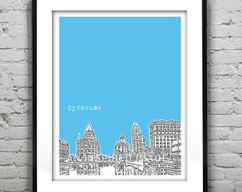 Syracuse NY Poster New York Art Print Version 3