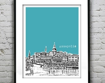 Annapolis Skyline Print Print Maryland MD Version 1