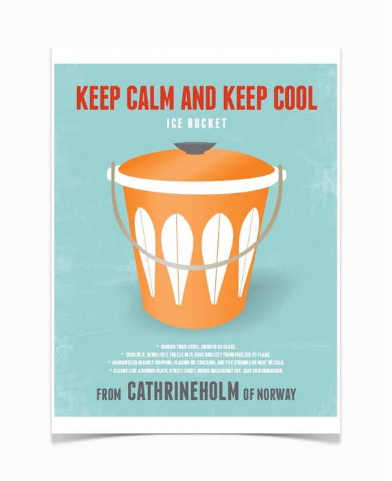Cool Calm And Functional Kitchen: Keep Calm And Keep Cool Cathrineholm Mid Century Modern By