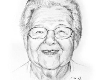 Custom Portrait Sketch 8 x 10