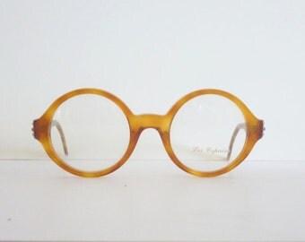 Vintage Eye Glasses Les Copains 23 Round Frame Elton John anni '90 Made in Italy New