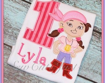 Izzy- Jake and the Neverland Pirates Personalized Number Tee