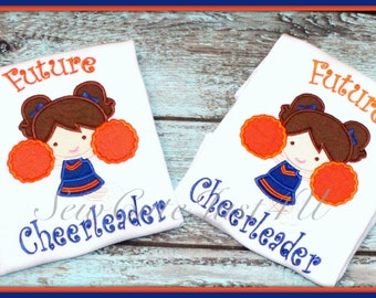 Future Cheerleader Personalized Embroidered Tee