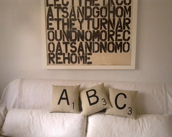 Spcial offer -2 Scrabble Pillows- letters- H,I