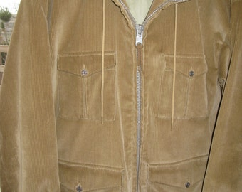 Vintage Mens Green Mighty Mac Corduroy Coat Size M / Vintage Mens Winter Coat/ Corduroy Jacket