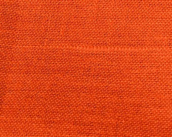 Orange Burlap Fabric - Quarter Yard Natural ecofriendly fabric  - Jute - Hessian- we take wholesale fabric orders-Quarter Yard