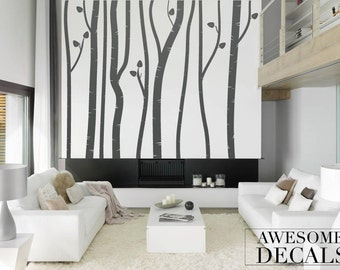 Birch Tree Wall Decal – Tree Wall Decal – Custom Wall Art – Large Wall Decal - Bedroom Wall Art – Vinyl Decals - Awesome decals / 027