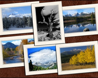 6 Nature Photo Note Cards - Nature Note Cards - 5x7 Nature Cards - Blank Note Cards - Nature Greeting Cards (GP69)