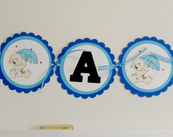 Baby boy shower banner, baby shower banner, It's a boy baby banner, baby banner in blue