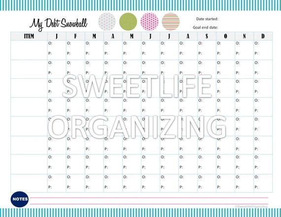 payoff debt snowball worksheet digital by sweetlifeorganizing. Black Bedroom Furniture Sets. Home Design Ideas