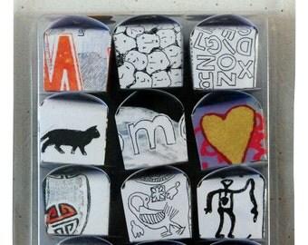 Twelve handmade boxes