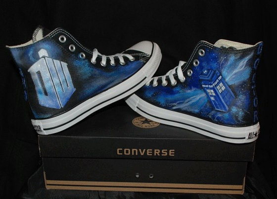1c5db96933ae Doctor Who Converse Sneakers-Custom Converse All Star High TOP