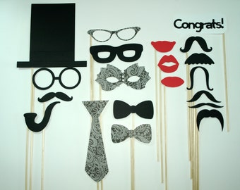 Photo Booth Props / 20 piece set
