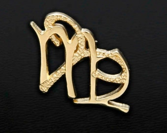 6 Aries and Virgo Gold Unity Pendant