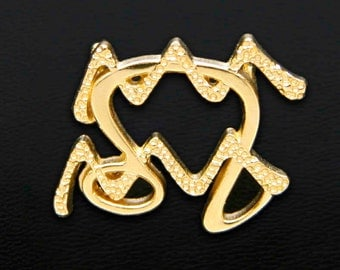 49 Leo and Aquarius Gold Unity Pendant