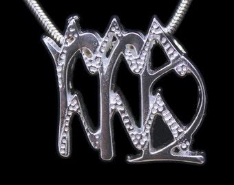 56 Virgo and Aquarius Silver Unity Pendant