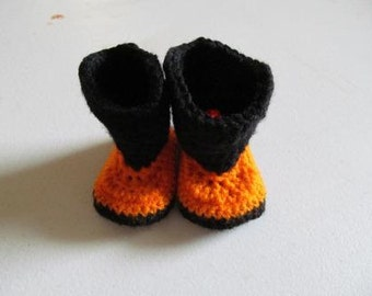 Hand Crocheted Baby Cowboy Boots-Made to Order
