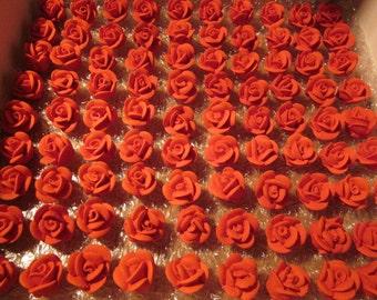 50 Small Royal Icing Roses