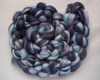 Blue Spinning Fiber-  23 micron Merino wool 100g / 3.5oz-' WHITBY'