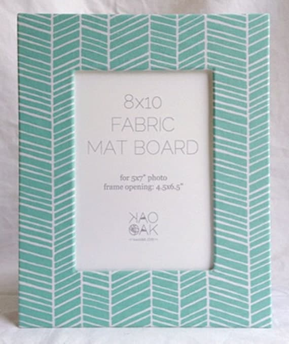 Fabric Mat Herringbone For 8x10 Frame Or 5x7 Frame