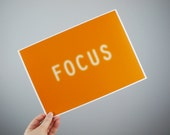 Focus Poster 11.7 x 8.3 in, A4, 297 x 210 mm