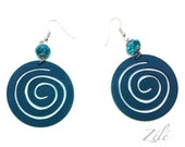 Mesmerizing Turquoise Wood Earrings