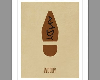 Digital Download Toy Story Woody Boot Poster Art Nursery Art Print, Woody Toy Story Nursery Art Boys Room - 8x10 or 11x14