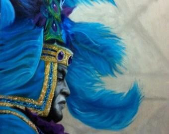 Zulu Captain (Mardi Gras Painting)