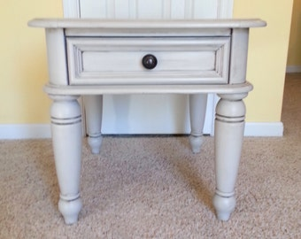 Rustic Gray End Table
