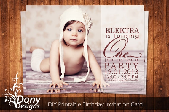 GET 1 FREE Photo Birthday Invitation Photocard Photoshop Template ...