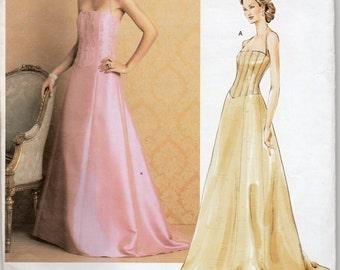 Vogue Designer Pattern 2732 Badgley MISCHKA EVENING  DRESS Misses Sizes 18 20 22