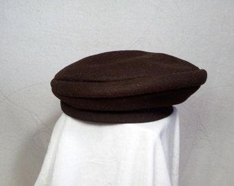 Vintage Dark Brown Beret